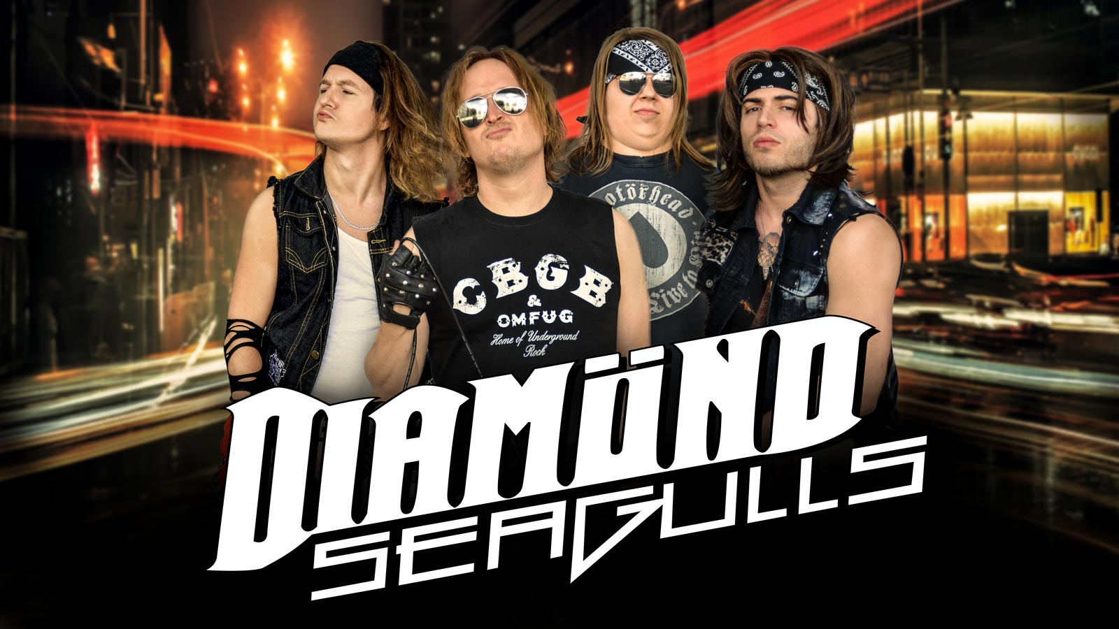 Diamond Seagulls Glamrock Band