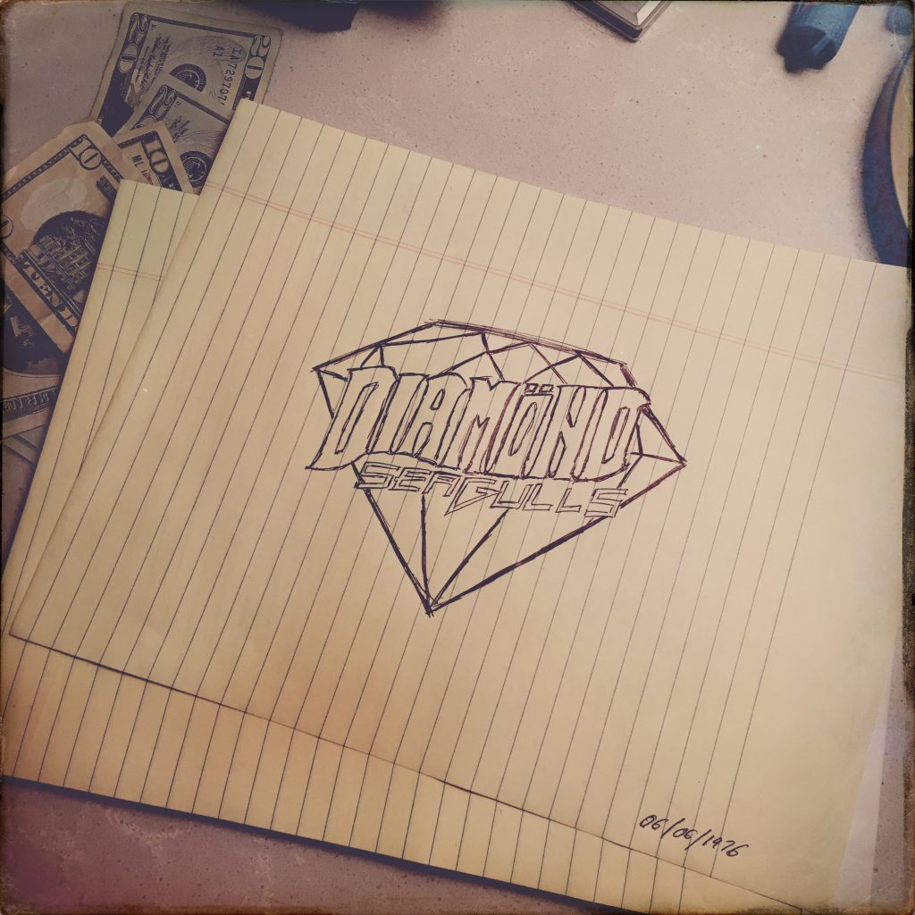 Diamond-Seagulls-Logo-Sketch-1976